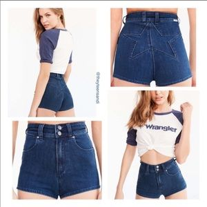 Wrangler for Urban Outfitters Cheeky Denim Shorts